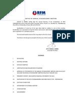 RFM Corp annual report