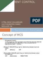 Management Control System - Revenue & Expense Center