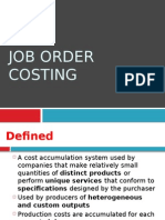 01 Job Order Costing