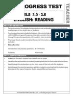 vels 3 0-3 5 reading test