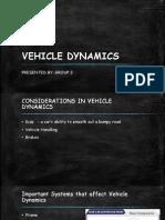 Vehicle Dynamics - Suspensions