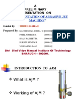 INSTRUMENTATION OF ABRASIVE JET MACHINE