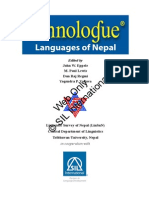 Ethno Logue Nepal Text No Print