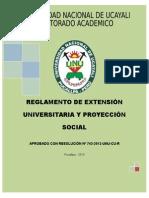 Nuevo Reglamento Ext. y Proy. Social 2013- Final