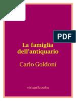 [E-book - ITA] - Carlo Goldoni - La Famiglia Dell Antiquario