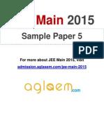 JEE Main 2015 Sample Paper 5