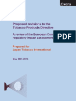 OXERA Tobacco Products Directive
