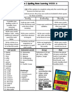 term 1 spelling week 8