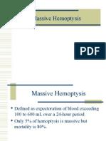 Massive Hemoptysis