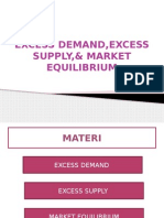 Excess Demand, Excess Supply, & Market Equilibrium