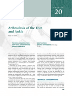 Arthrodesis of the Foot and Ankle