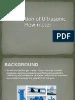 Calibration of Ultrasonic Flowmeter