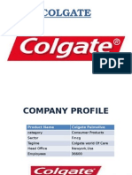 SOWT analysis of Colgate