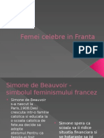 Femei Celebre in Franta