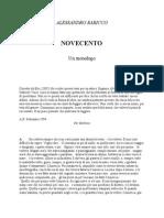 AlessandroBaricco-Novecento