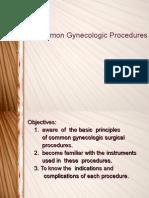 Common Gynecologic Procedures