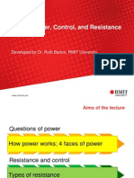 Power, Control and Resistance 2014