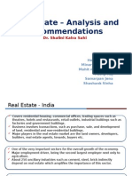 Current Scenario Real Estate in India