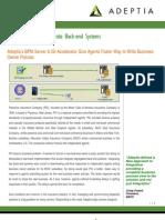 Preserver ISI Accelerator Adeptia Case Study