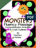 MONSTERSFluencyPassageComprehensionActivitiesCraftOutlines (1)