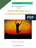 Técnica PNL Para Tocar La Emoción de La Autoestima-Curso Autoestima PNL