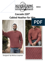 knit sweater for man with cables