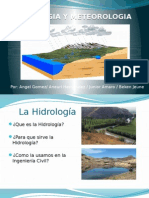 HIDROLOGíA Y METEOROLOGIA