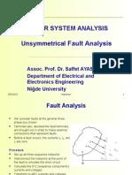 Un Symetrical Fault Analyis Week7