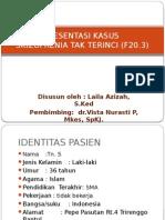 Presentasi Kasus Skizofrenia Tak Terinci (f20