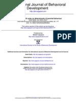 Gender and Birth Order as Determinants of Parental Behaviour