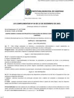Código de Obras e Execução de Obras e Edificações de Campinas - Lei Complementar n°09 de dezembro de 2003