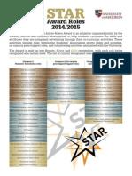 UoA STAR Scholarship Info