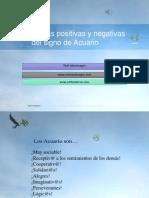 Características Positivas y Negativas Del Signo de Acuario