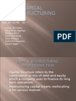 CAPITAL RESTRUCTURING -CHOLAMANDALAM
