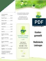 2015 Physiotherapie und Privatleistungen