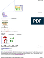 9. Best Mutual Fund for SIP