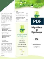 Heilpraktikerin für Physiotherapie und FDM