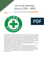 Tudo o Que Você Precisa Saber Sobre a CIPA - NR5