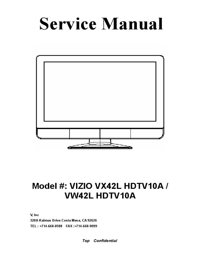 42 inch VIZIO repair manual   og To Digital Converter ... Kalmus Transmitter Wiring Diagram on