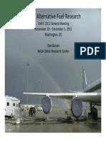 NASA Alternative Fuel Research - Bulzan CAAFI NASA Presentation 11-30-11