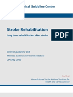 Stoke Rehabilitation NICE Guidelines
