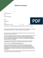 Boletín inscripción 2015