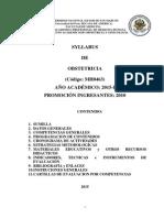 Syllabus Obstetricia UNMSM - Medicina Humana.