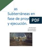 Obras Subterraneas en Proyecto o Ejecucción.