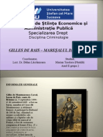 Gilles de Rais - Criminologie