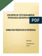 Citas y Normas de Presentación de Referencias Según APA (2013)-1