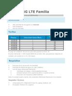 Nternet 4G LTE Familia