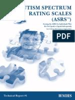 autism spectrum ratig scales
