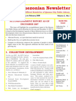 Quezonian Newsletter February 2008