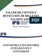 taller de conteo y deteccion de billetes falsificados